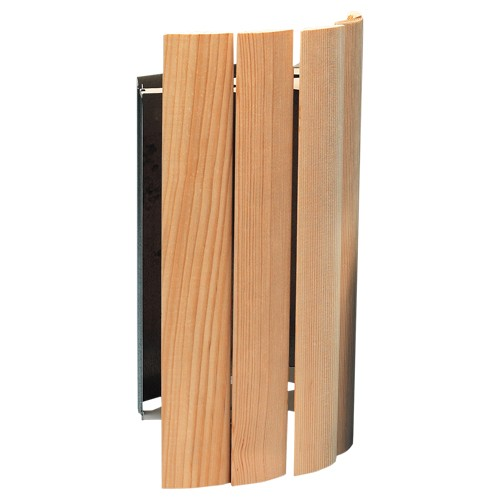 Holzverblendschirm für Eckleuchte Porvoo