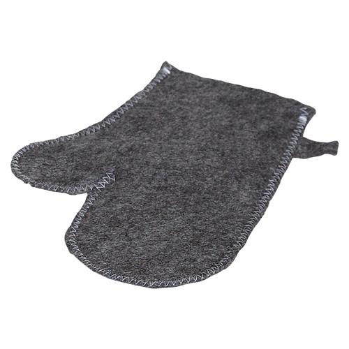 Aufguss-Handschuh aus Filz - Farbe: grau