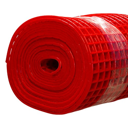 Gitter-Bodenmatte rot 100cm/10m Rolle