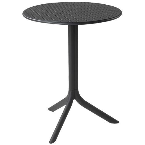 Tisch Step, rund, Ø 60,5 cm - anthrazit