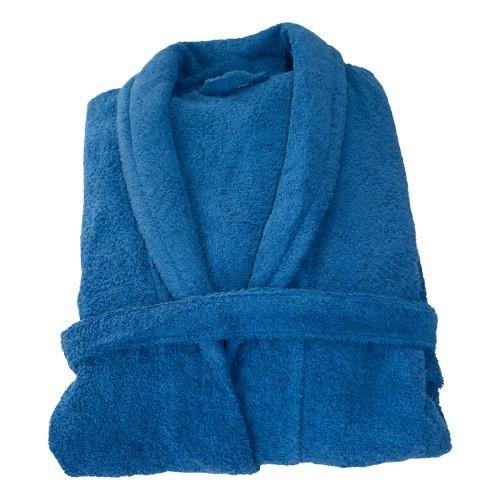 Frottee-Bademantel, blau, Gr.M