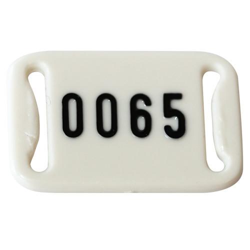 Nummernplättchen m. Nr. für Perlon-Bänder