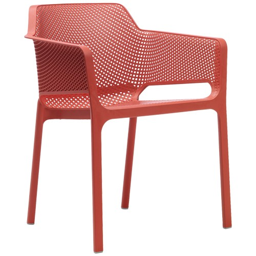 Stuhl Net, stapelbar - Farbe: koralle