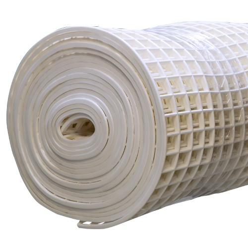 Gitter-Bodenmatte weiß 100cm/10m Rolle