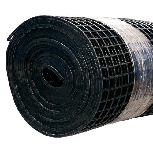 Gitter-Bodenmatte schwarz 80cm/10m Rolle