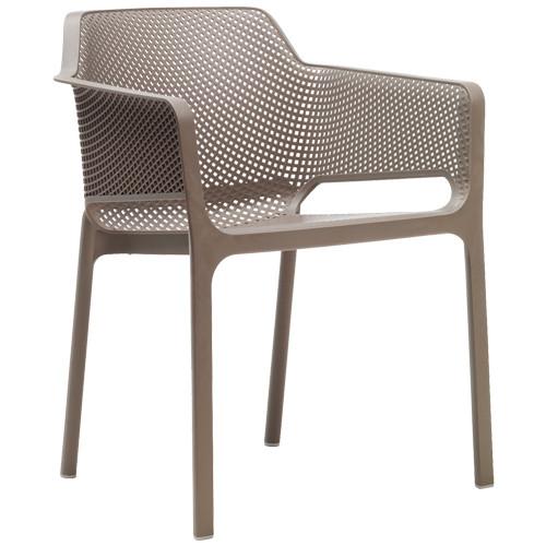 Stuhl Net, stapelbar -  Farbe: tortora