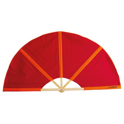 Aufgussfächer Esche PLUS, Bezug: rot/orange