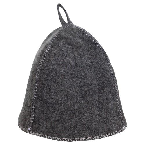 Sauna-Hut aus Filz - Farbe: grau