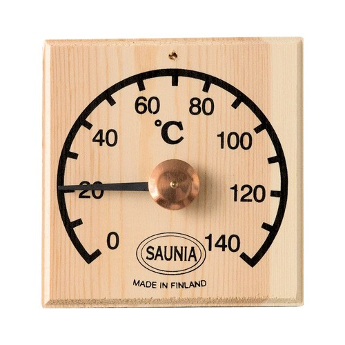 Sauna-Thermometer 12 x 12 cm - Kiefer