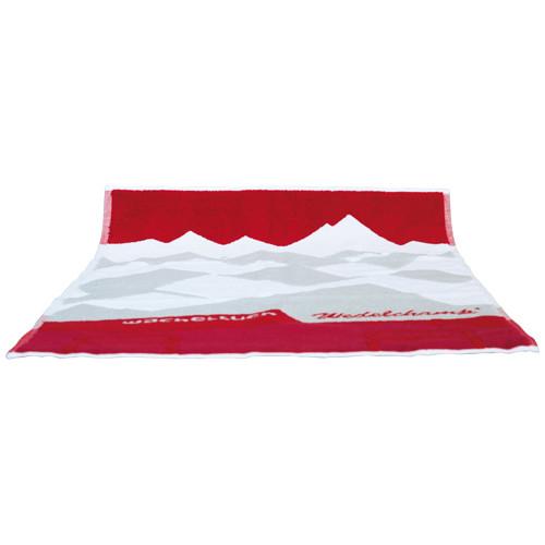 Wacheltuch 1000g/m², rot/weiß/grau 75x60 cm
