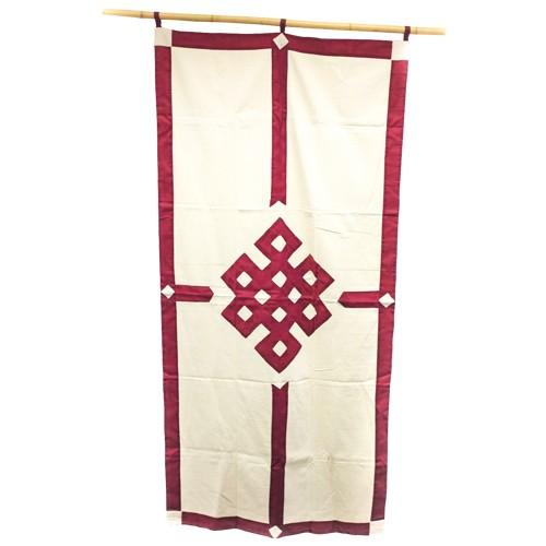 Tibetischer Wandbehang 80 x 190 cm - Farbe: rot