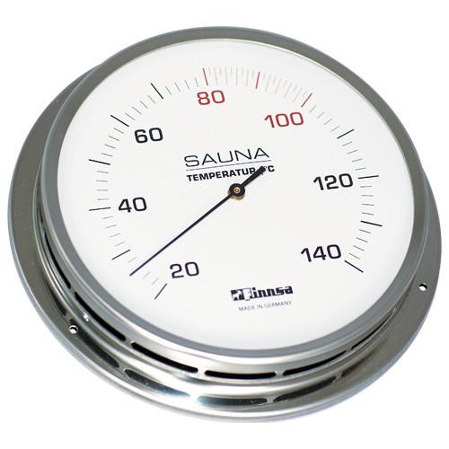 Sauna-Thermometer mit Flansch 130 mm -Trend-