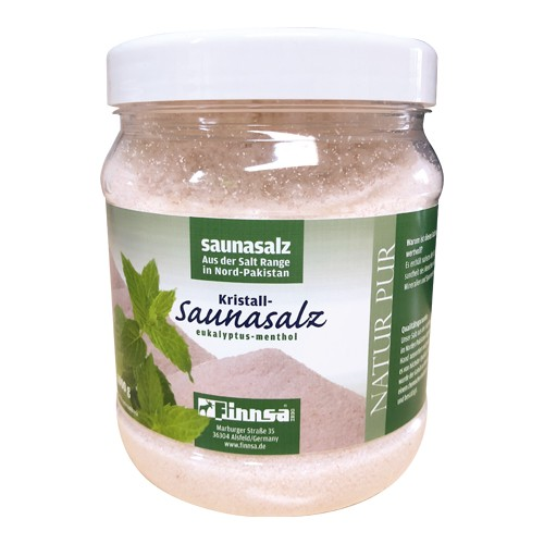 Kristall-Saunasalz Euk./Menth. 1000 g Dose