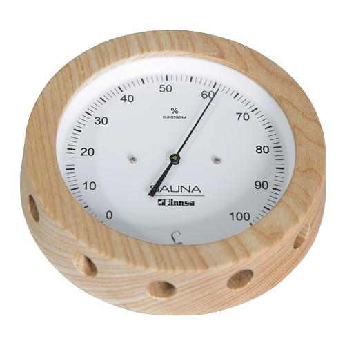 Sauna-Hygrometer 150 mm -Profi-, in Holz gefasst