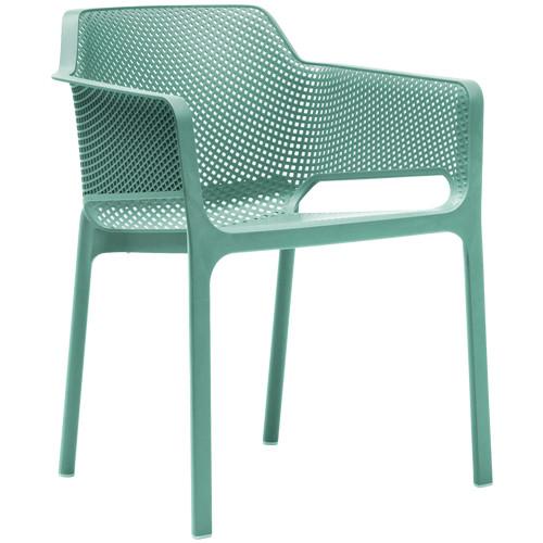 Stuhl Net, stapelbar -  Farbe: mint