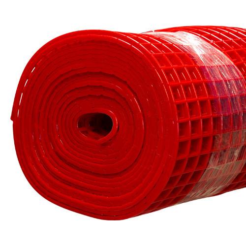 Gitter-Bodenmatte rot 80cm/10m Rolle
