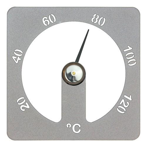 Sauna-Thermometer Cozmic 13 x 13 cm - Alu grau