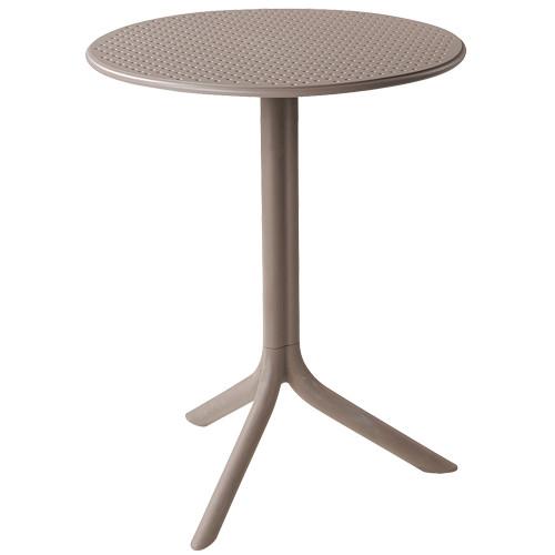 Tisch Step, rund, Ø 60,5 cm - tortora