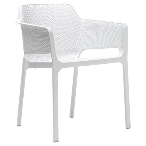 Stuhl Net, stapelbar -  Farbe: weiß