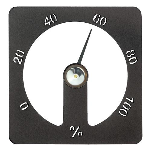 Sauna-Hygrometer Cozmic 13 x 13 cm - Alu schwarz