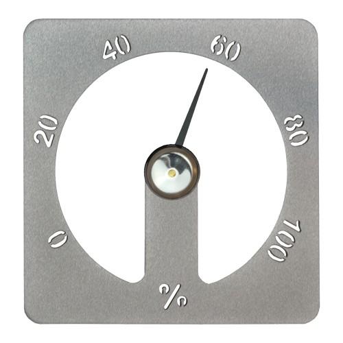 Sauna-Hygrometer Cozmic 13 x 13 cm - Alu grau