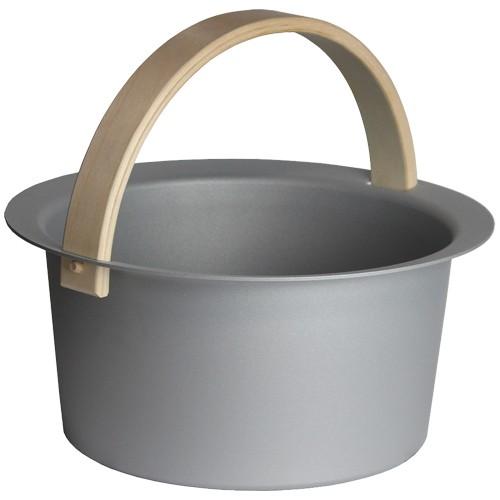 Sauna-Eimer Cozmic 6 l, Aluminium grau