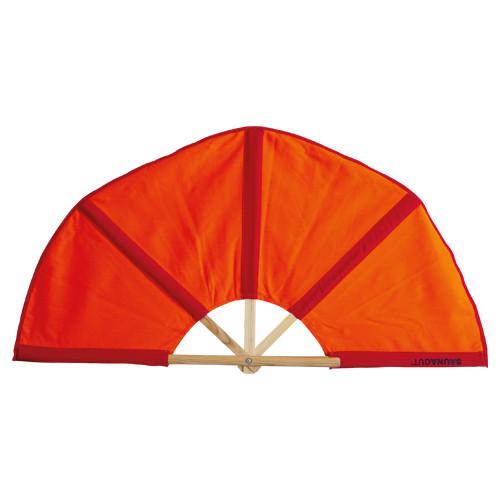 Aufgussfächer Esche STANDARD, Bezug: orange/rot