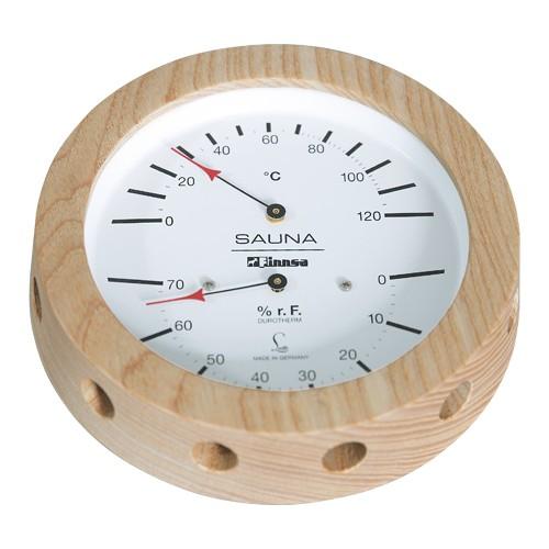 Sauna-Hygrotherm 150 mm -Profi-, in Holz gefasst