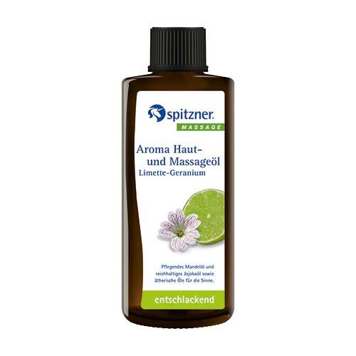 Haut- u. Massageöl Limette-Geranium 190ml