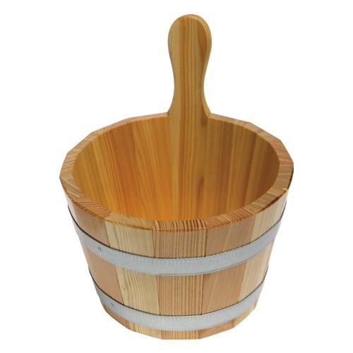 Sauna-Kübel 5 l - Griffdaube -  Lärche versiegelt