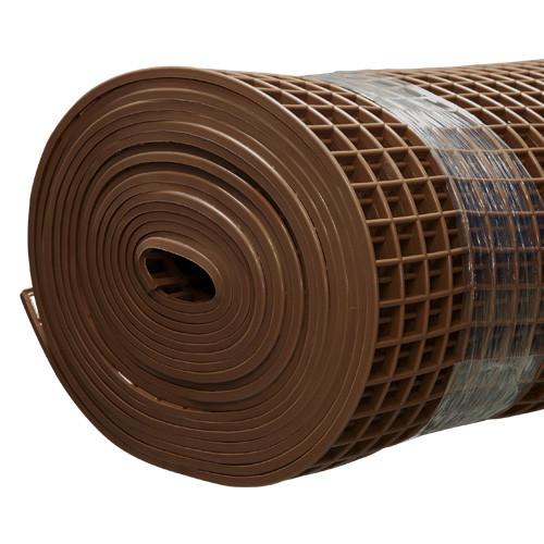 Gitter-Bodenmatte braun 80cm/10m Rolle