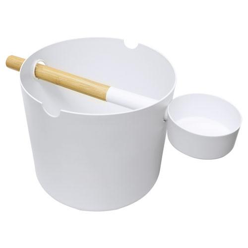 Kolo Design-Kübel-Set - Aluminium weiß