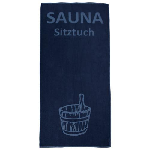 Sauna-Sitztuch 145x70 cm,400 g/m²-dunkelblau